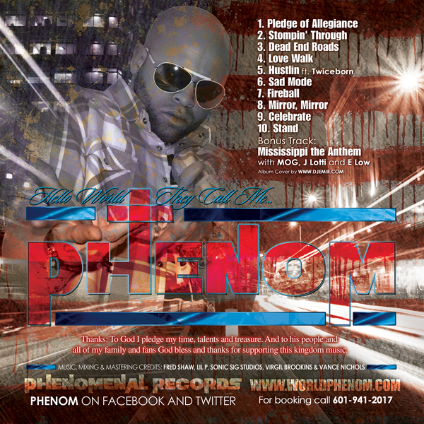Phenom D Pledge Of Allegiance Album Cover Design Back