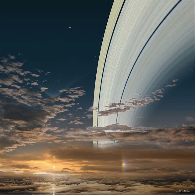 Sol visto de Saturno