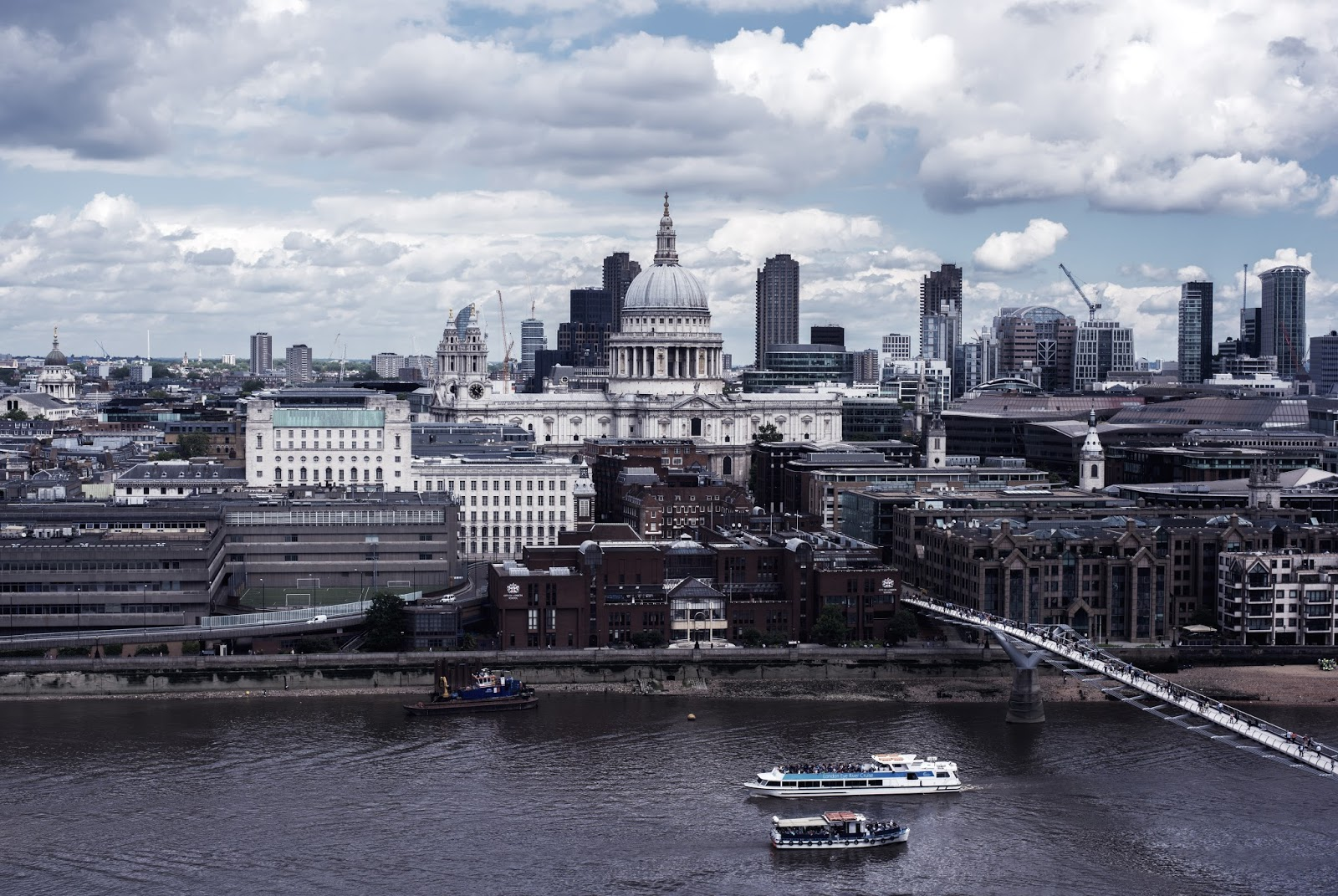View from New Tate Modern towrds The City of London and St.Paul's Cathedral | Photography by Moonlight Bohemian