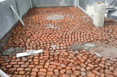 Civil at work work procedure glazed china mosaic type for Terrace waterproofing methods
