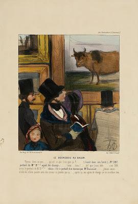 Honore Daumier - le Bourgeois au salon,1842.