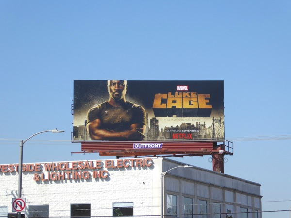Luke Cage series launch billboard