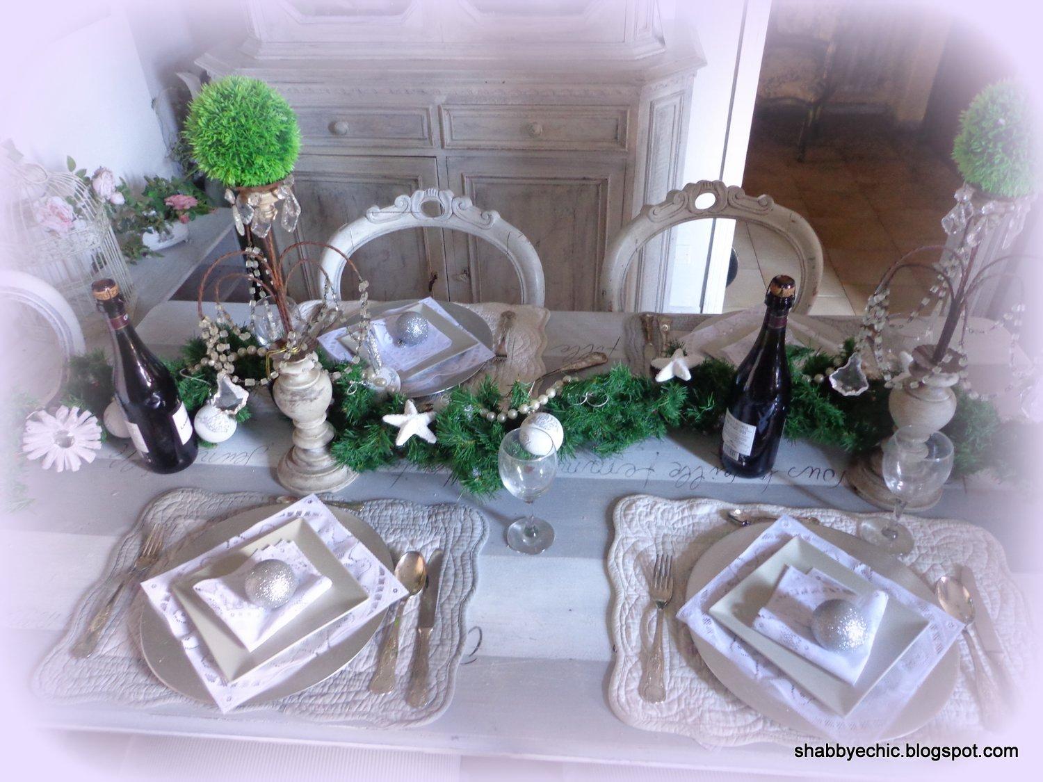 Gustavian Chic : Come decorare con poco una bella tavola Natalizia