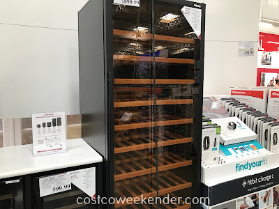 Safely store your expensive bottles of wine in the Wine Enthusiast 300-Bottle Giant Single Zone Wine Cellar