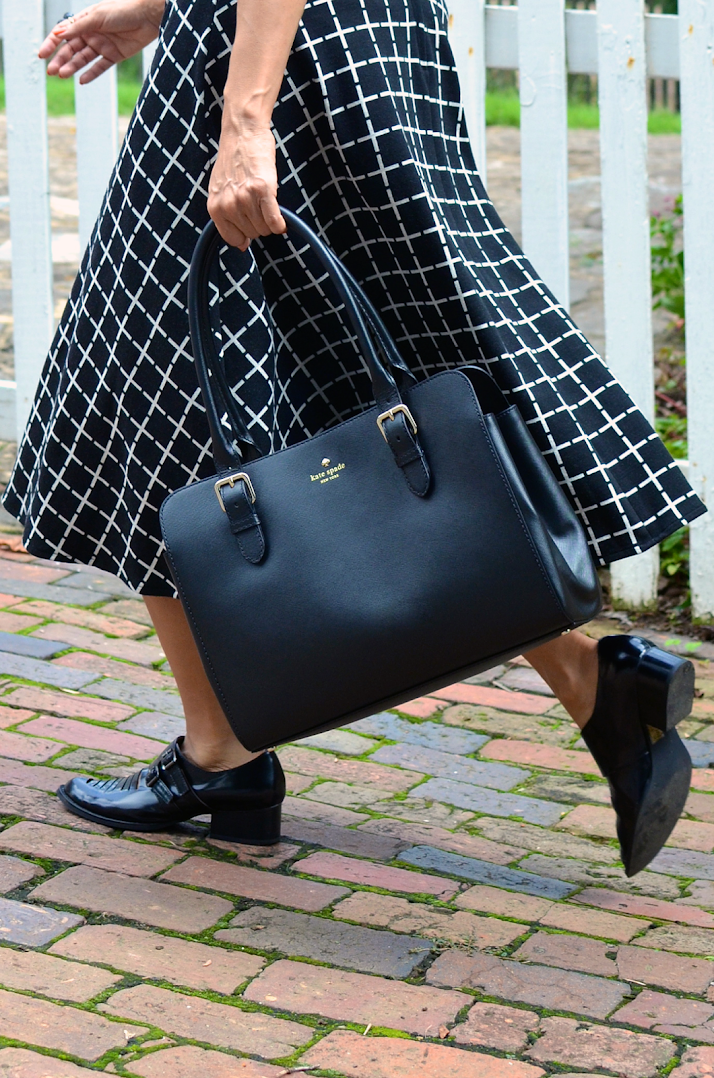 KATE SPADE BLACK SAFFIANO LEATHER TOTE