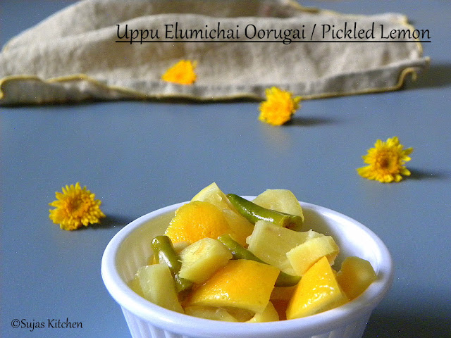 Uppu Elumichai Urugai, Pickled lemon, ginger and chillies