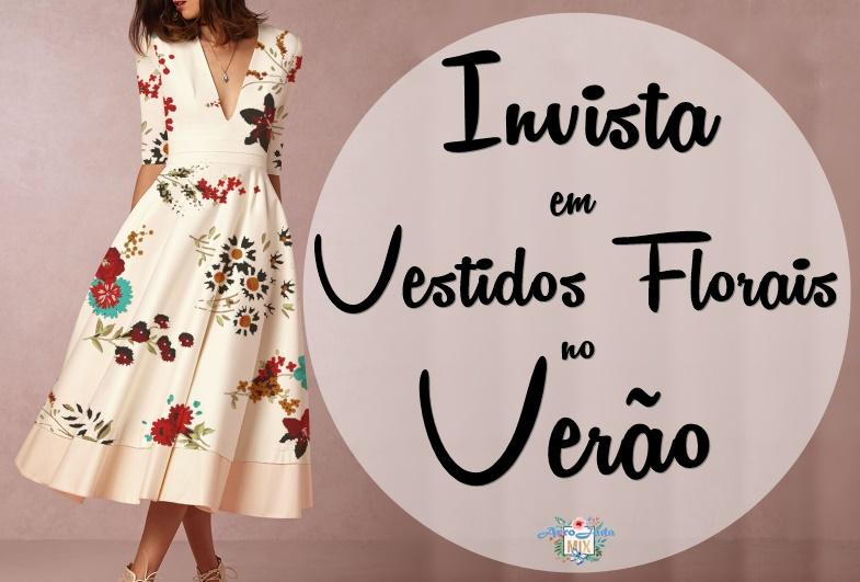 Invista em Vestidos Florais no Verão