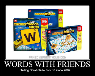 Zynga Board Game Words with Friends Scrabble Comparison