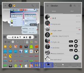 Download BBM MOD CHAT ME - GREY Versi Terbaru