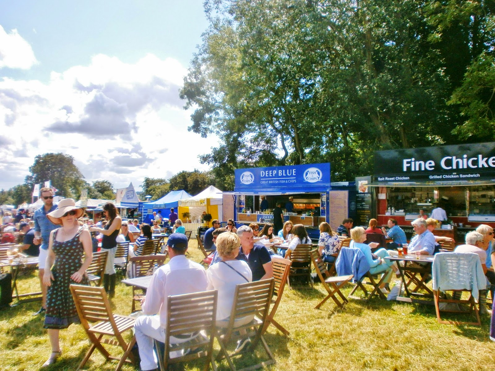 Food stalls at Gatcombe Festival of Eventing