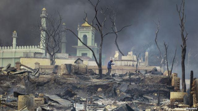 Militer Myanmar Buldoser 16 Masjid Rakhine State