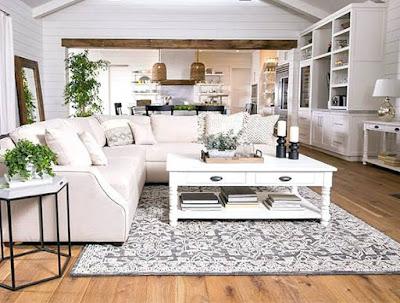 Desain ruang tamu putih