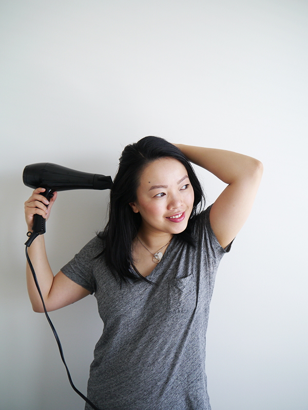 Vancouver beauty, life and style blogger Solo Lisa tests the Kenneth Bernard Pro Dryer, available exclusively at Chatters Hair Salons.