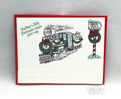 Christmas card created using Christmas Magic shared by Darla Olson @ inkheaven