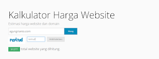 Cara cek harga blog/website