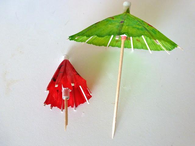 cocktail umbrella wreath design improvised