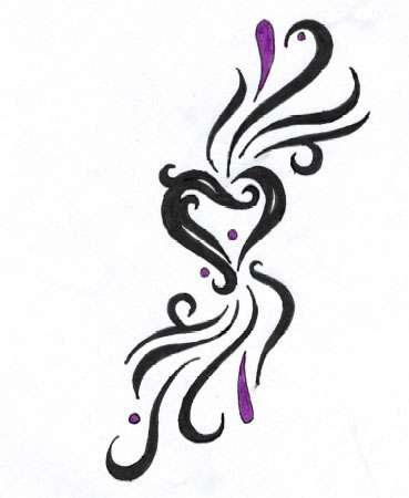 Heart Tattoo Des...K Design Tattoo