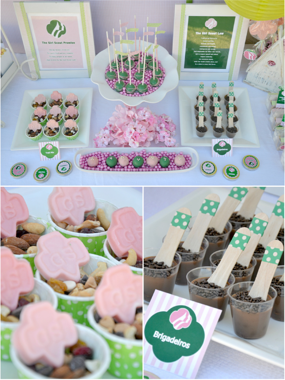 Girls Scout Party with FREE Printables - BirdsParty.com