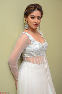 Anu Emmanuel in a Transparent White Choli Cream Ghagra Stunning Pics 065.JPG