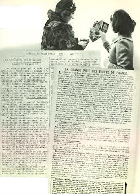 Extrait de l'Ecole Libératrice, mars 1944 (in L'Encyclopédie Générale de l'Education Française-Tome Premier)