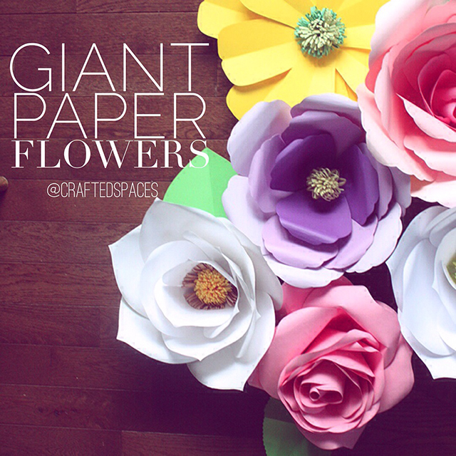 Crafted Spaces: Giant Paper Flowers