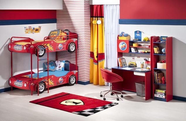 Desain Kamar Lucu Dengan Tema Mobil Cars