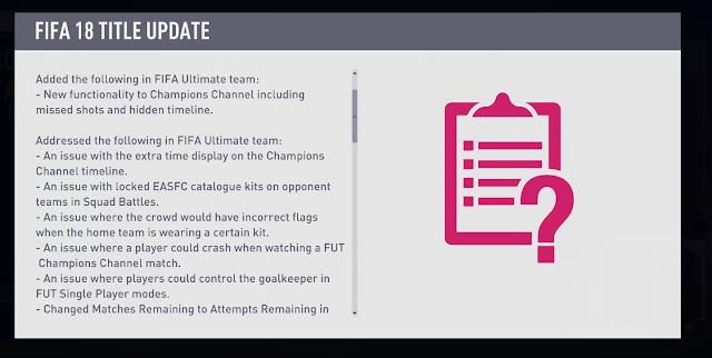 Apa yang baru dari FIFA 18 Update 1? dan Link Mirror selain Origin