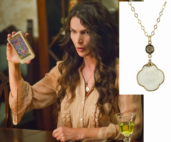 Julia Ormond Carved Cross Necklace