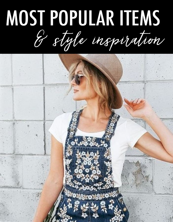 most popular spring items, embroidered shein denim dress, fedora spring hat