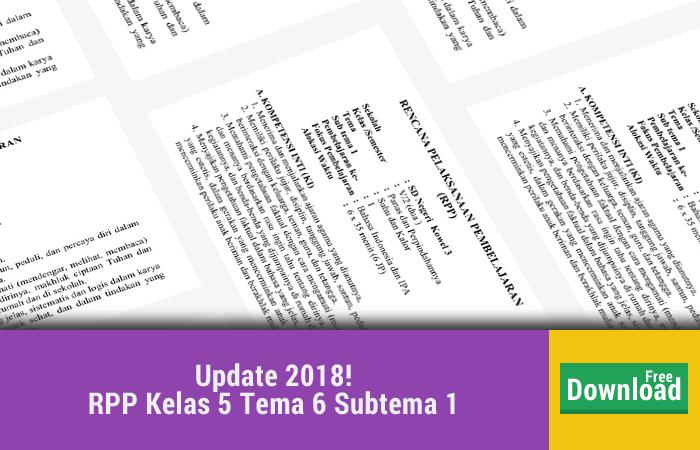 RPP Kelas 5 Tema 6 Panas dan Perpindahannya