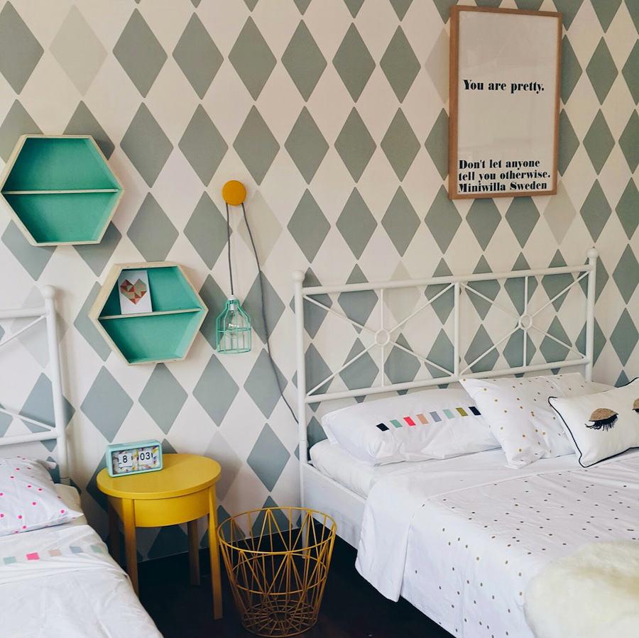 Blog dormitorios juveniles com papel pintado para - Habitaciones con papel pintado ...