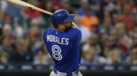 El cubano Kendrys Morales pegó un bambinazo que le acerca a muy poco de colarse en el selecto club de los 200 jonrones en las Grandes Ligas