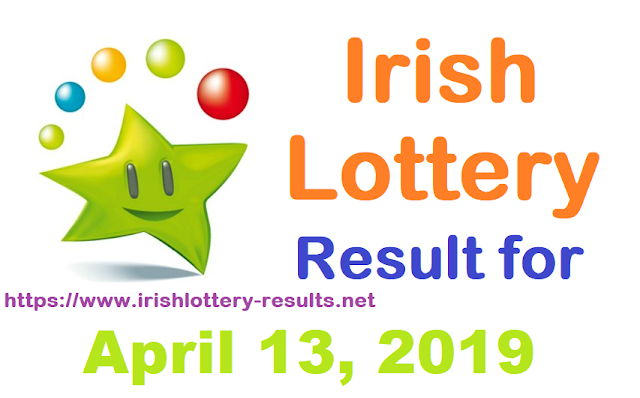Irish Lottery Results for Saturday, April 13, 2019