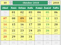 [ Unduh ] Kalender Bulanan Format Excel + Pasaran Jawa