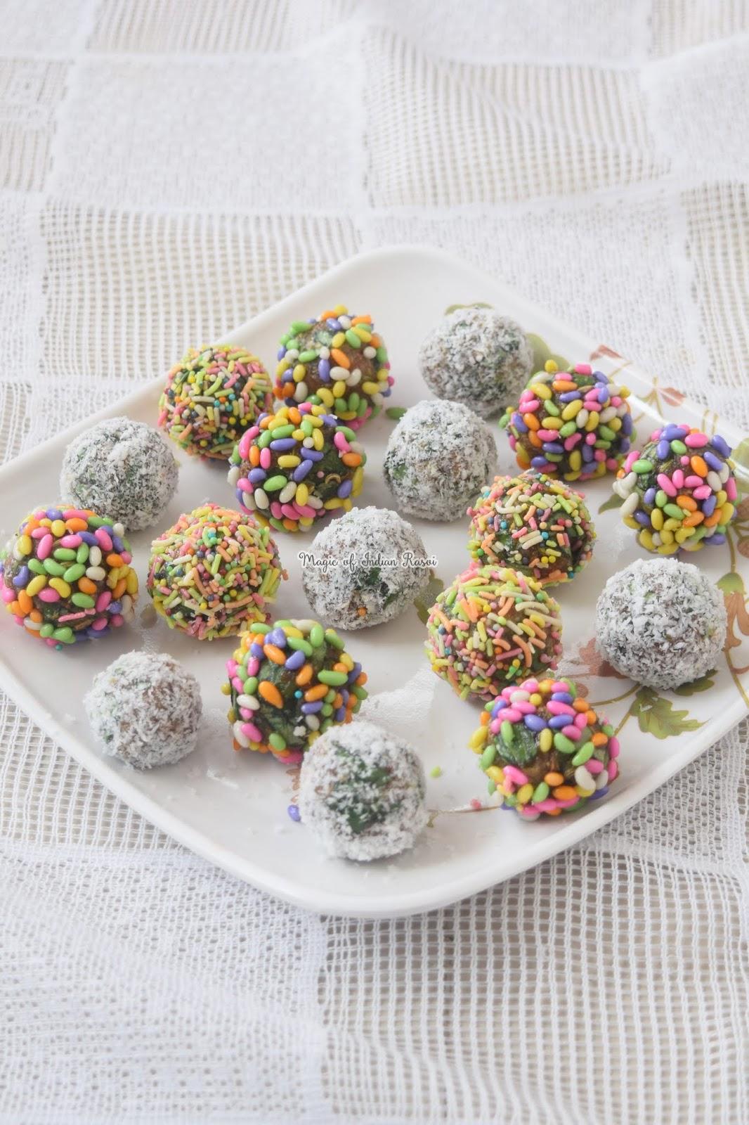 Khajoor Paan Balls - Khajur Paan ki Mithai Recipe - 2
