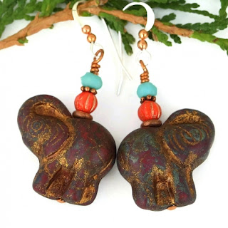 elephant earrings gift idea for women