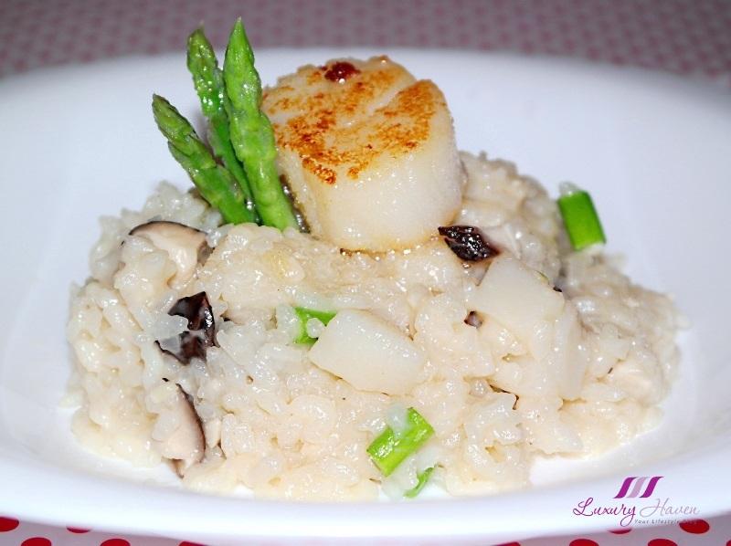 delicious japanese hokkaido scallop risotto recipe