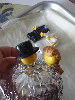 caketopper sposi lego pasta polimerica