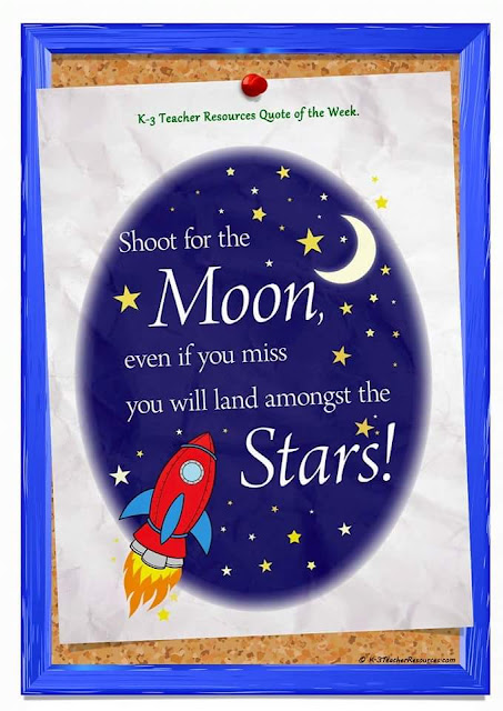 shoot for the moon... even if you miss, you will land amongst the stars !