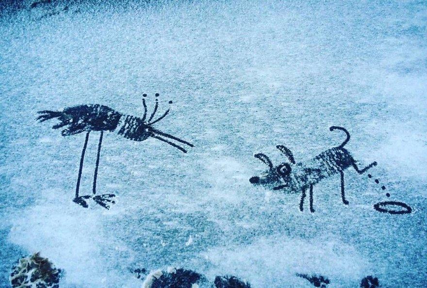 Питерский зимний арт