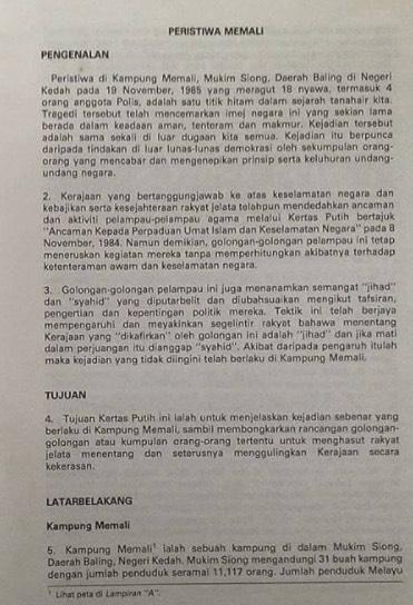 Kisah Benar Kejadian Memali, Tun Mahathir Mohamad Tidak Terlibat