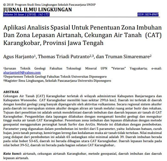 Aplikasi Analisis Spasial Untuk Penentuan Zona [Paper]