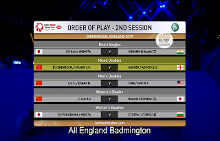HSBC BWF World Tour All England Badminton AsiaSat 5 Biss Key 9 March 2019