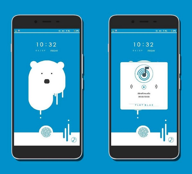 Tema MIUI Flat Blue V1 and V2 Update Mtz Theme For Xiaomi