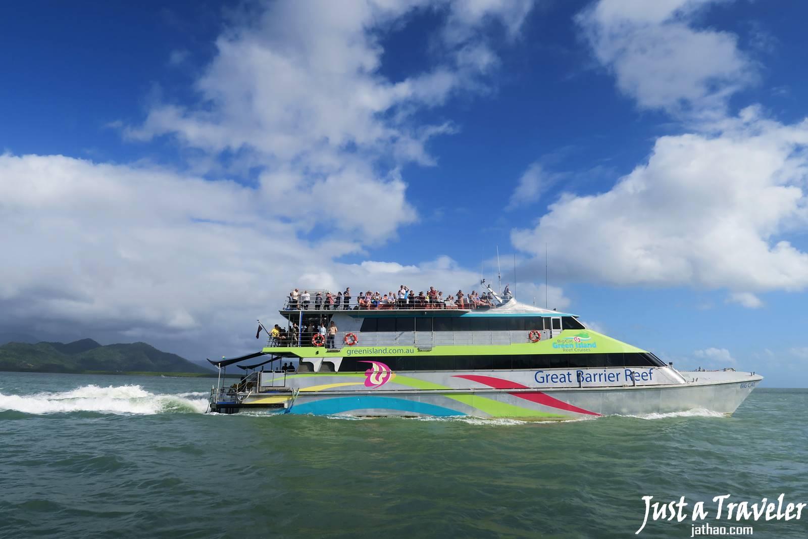凱恩斯-大堡礁-綠島-翡翠島-內堡礁-交通-推薦-旅遊-自由行-澳洲-Carins-Great-Barrier-Reef-Green-Island-Fitzroy-Island-Ferry-Travel-Australia