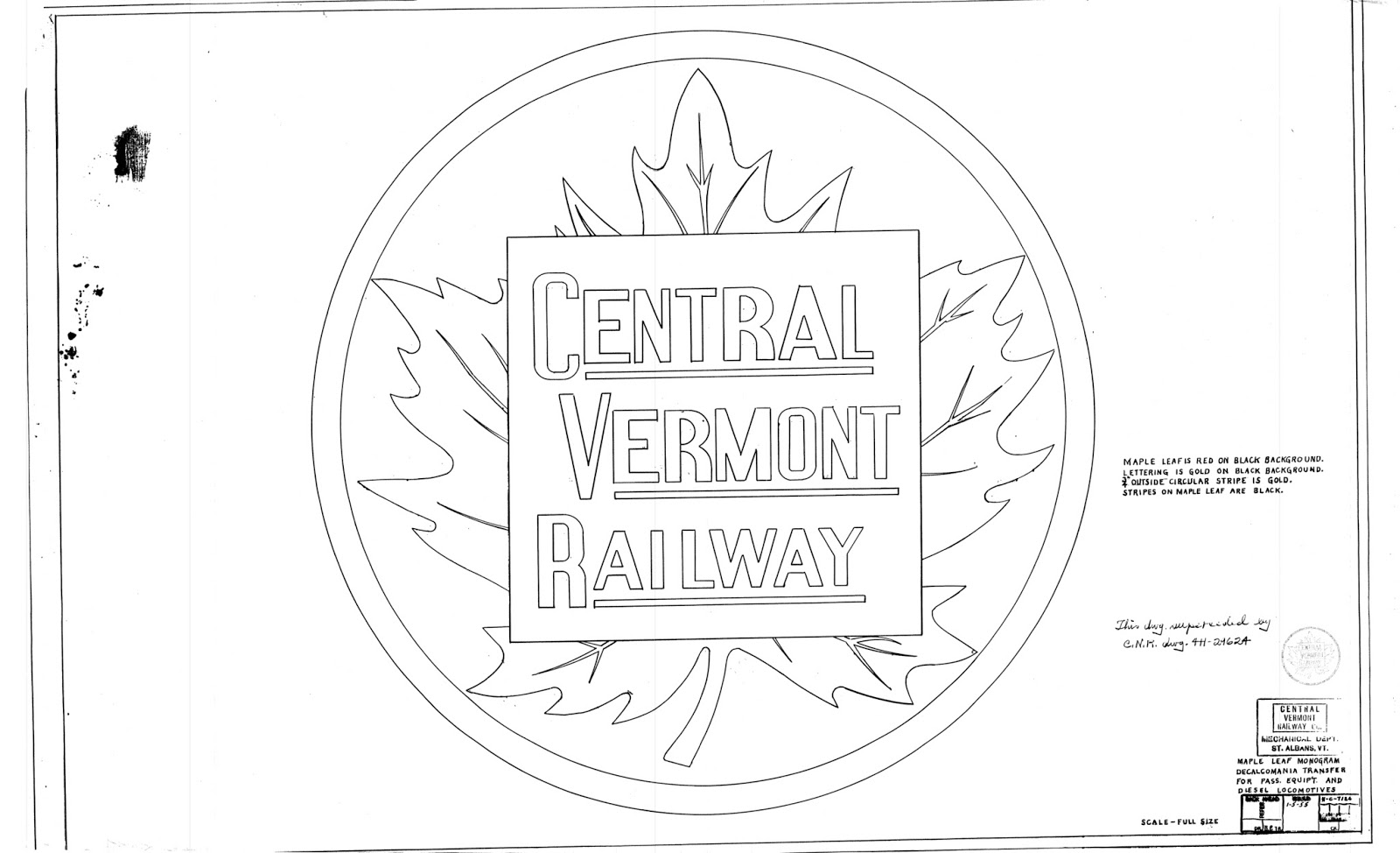 central vermont railway  central vermont stenciling diagrams