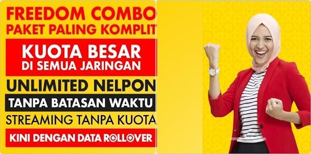 Cara Daftar Pakat 'Freedom Combo' Indosat