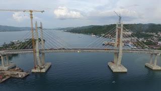 Jembatan Merah Putih Terpanjang Indonesia Timur Diresmikan Jokowi Teluk Ambon, Kota Ambon, Maluku