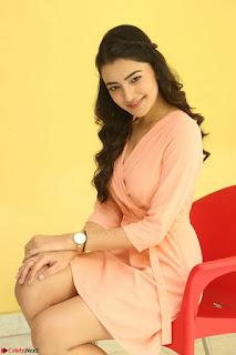 Rukshar Mir in a Peachy Deep Neck Short Dress 031.JPG