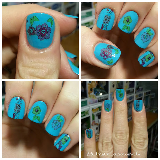 Born pretty Store nail art product review : Cute Spring/ Summer floral water decals